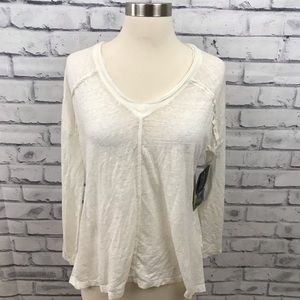 Threads 4 thought white v neck long sleeve top
